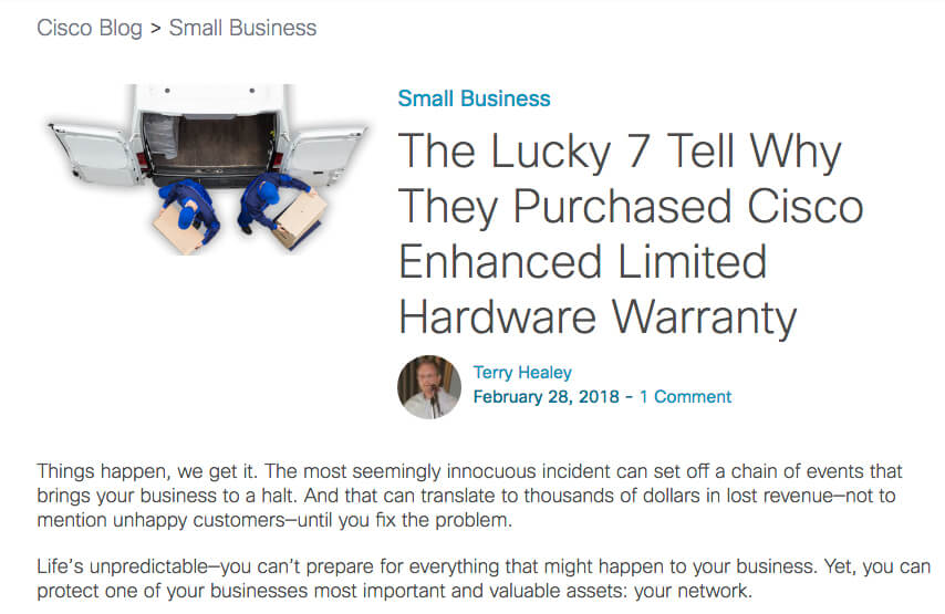Warranty Blog | Researched, wrote, design and published.