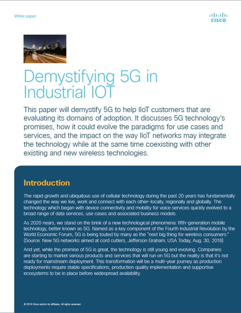 Demystifying 5G in Industrial IOT