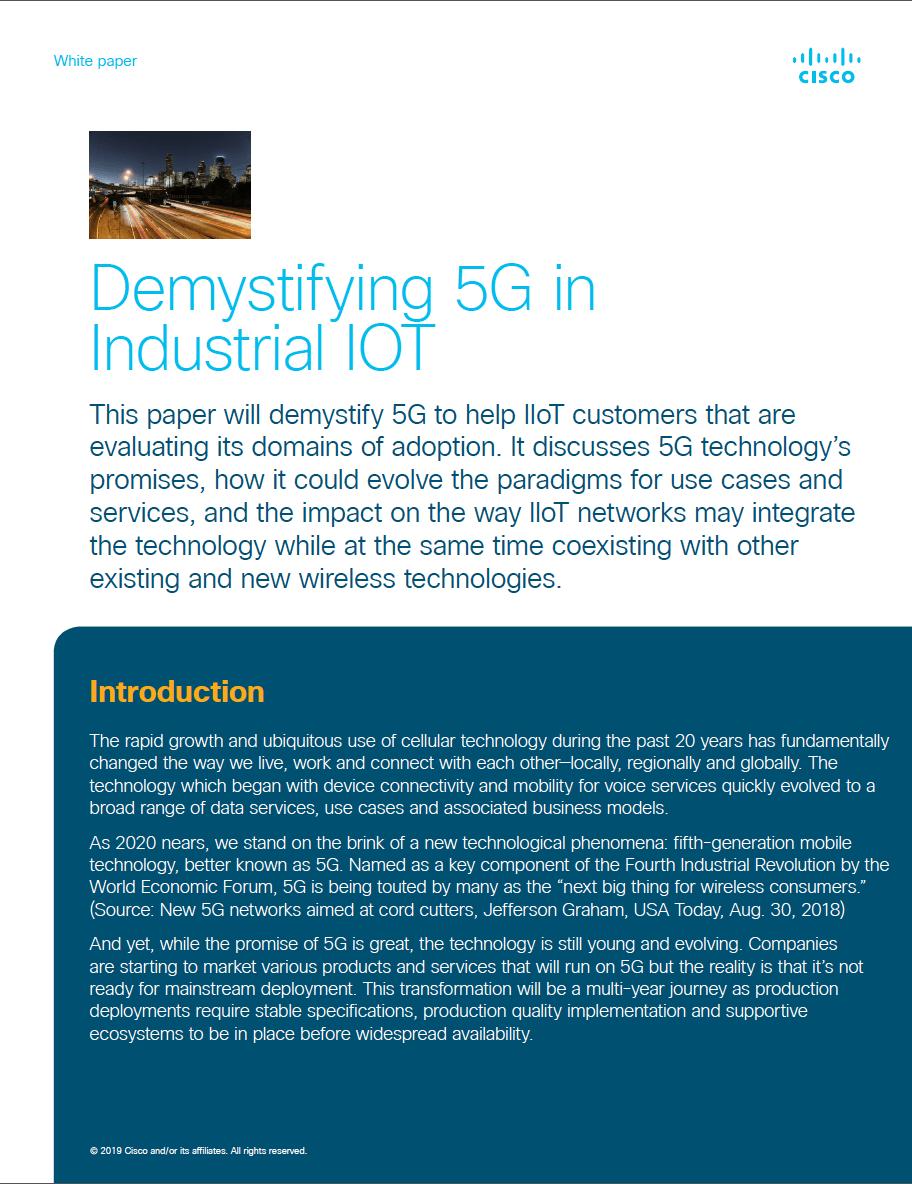 Demystifying 5G in Industrial IOT
