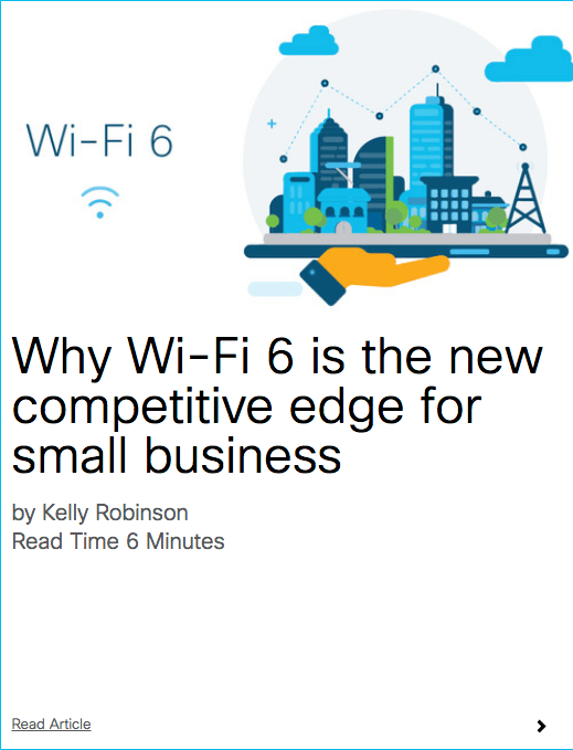 Blog on Cisco's EMEAR SMB Hub: Why Wi-Fi 6 is the new competitive edge for small business
